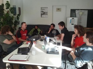 Intense discussions on the first day of BeVolunteer General Assembly 2012 in Halle, Germany